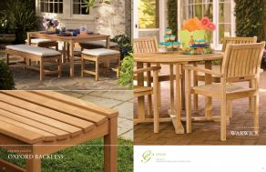 OXFORD BACKLESS & WARWICK Dining  (Shorea) by Oxford Garden 2017