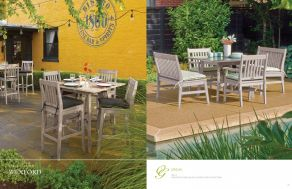 WEXFORD (Shorea, Grigio Finish) Dining by Oxford Garden 2017