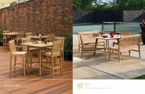 WEXFORD (Shorea, Natural Finish) Dining by Oxford Garden 2017