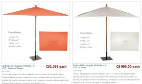 6 x 10ft. Sunbrella Rect. Market Dupionne Papaya & Natural Canvas by Oxford Garden