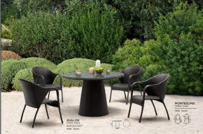 AVALON Dining Table & MONTEZUMA Dining Chair by ZUO VIVE 2017