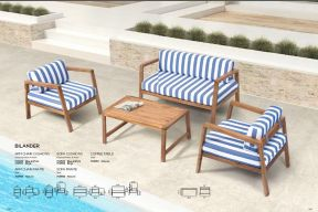 BILANDER Loveseat & Lounge Chairs by ZUO VIVE 2017