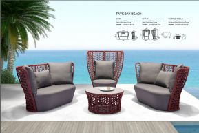 FAYE BAY BEACH Sofa, Chair & Coffee Table by ZUO VIVE 2017