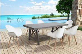 FORD Dining Table & TIDAL Dining Chair by ZUO VIVE 2017