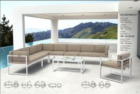 GOLDEN BEACH Sectional & Coffee Table by ZUO VIVE 2017