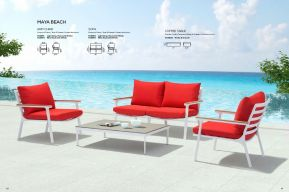 MAYA BEACH Sofa, Arm Chair & Coffee Table by ZUO VIVE 2017