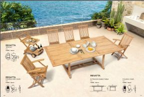 REGATTA (1) Extension Dining Table & Folding Chairs by ZUO VIVE 2017
