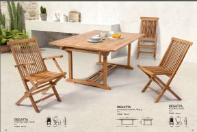 REGATTA (2) Extension Dining Table & Folding Chairs by ZUO VIVE 2017