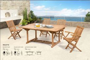 REGATTA Dining Table & ArmChairs by ZUO VIVE 2017