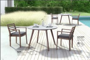 SANCERE Dining Chair & ELITE Dining Table by ZUO VIVE 2017