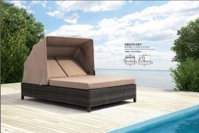 SIESTA KEY Double Chaise Lounge by ZUO VIVE 2017