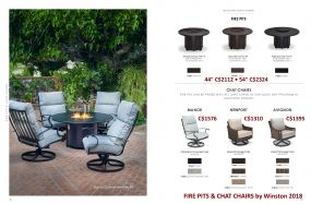 FIRE PITS & CHAT CHAIRS by Winston 2018