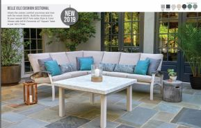BELLE ISLE Cushion Sectional by Telescope 2019