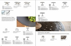 Embossed Aluminum Tables by Telescope 2019