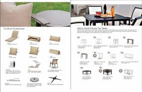 MARINE GRADE POLYMER TOP Tables & Furniture Accessories by Telescope 2019