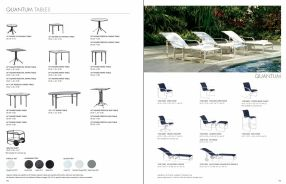 QUANTUM Chaises, Chairs & Tables by Brown Jordan 2019