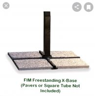 FIM Freestanding Offset Base with 4 Pavers