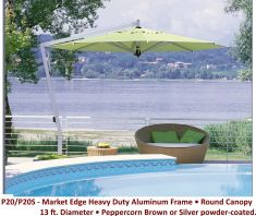 P20 - 13' Round Canopy Silver Finish by FIM