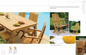 BRAXTON Folding Chairs by 3Birds Casual
