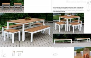SOHO Backless Benches by 3Birds Casual