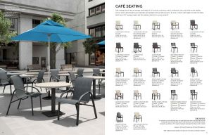 CAFE SEATING (Aluminum) by Homecrest