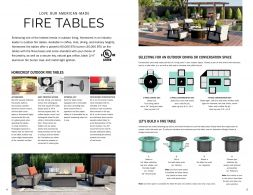 Fire Tables Configuration Collection by Homecrest