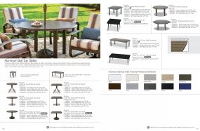 Aluminum Slat Tables by Telescope Casual Residential