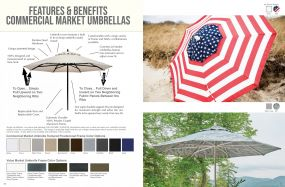 COMMERCIAL Market Umbrellas - Features & Benefits by Telescope Casual Residential