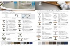 Glass, Obscure Acrylic & Value Hammered MGP Top Tables by Telescope Casual Residential