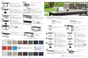 Marine Grade & Rustic Polymer Top Tables by Telescope Casual Residential