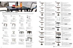 Marine Grade Polymer Top Tables by Telescope Casual Residential
