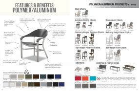POLYMER & ALUMINUM Features & Benefits by Telescope Casual Residential