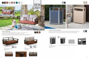 Porch Swing & Trash Receptacles by Telescope Casual Residential