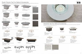 Rustic Polymer & Elements Top Fire Tables by Telescope Casual Residential