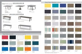 Tables for 6-10 & Sling Fabric Selection by Telescope Casual