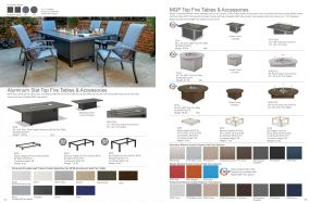 Aluminum Slat & MGP Top Fire Tables by Telescope Casual Residential