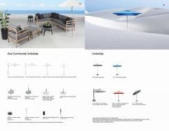 Axis Commercial & Chelsea Residential Umbrellas  by Cabana Coast