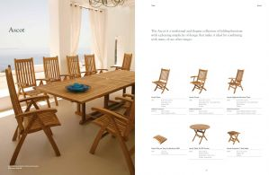 ASCOT (Teak) Extension Table & Dining Chairs by Barlow Tyrie