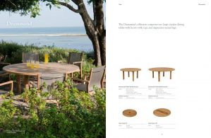 DRUMMOND (Teak)  Round Dining Tables by Barlow Tyrie