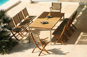 HORIZON (Teak) Dining Table  Chairs by Barlow Tyrie