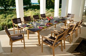 MONTEREY (Teak) Dining Table & Chairs by Barlow Tyrie