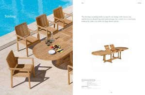 STIRLING (Teak) Dining Extension Table & Chairs by Barlow Tyrie