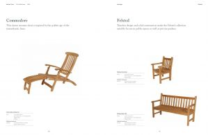 COMMODORE (Heritage Teak) Lounger & FELSTED Chair & Bench
