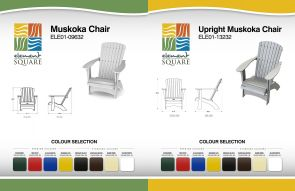 LOW-BACK & UPRIGHT MUSKOKA CHAIRS by Element Square