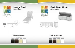 LOUNGE CHAIR & 72 inch DECK BOX by Element Square