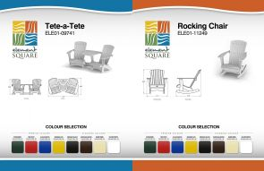TETE A'TETE & ROCKING CHAIR by Element Square