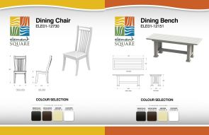 DINING CHAIR & DINING BENCH by Element Square