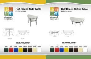 HALF-ROUND SIDE & COFFEE TABLEs by Element Square