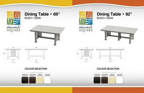 69 in & 92 in DINING TABLEs by Element Square