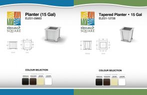 15 Gal PLANTER & TAPERED PLANTER by Element Square